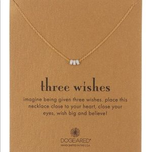 NWT Dogeared Three Wishes Triple Beaded Necklace